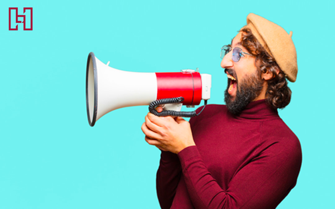 Featured image of french man in beret with bullhorn